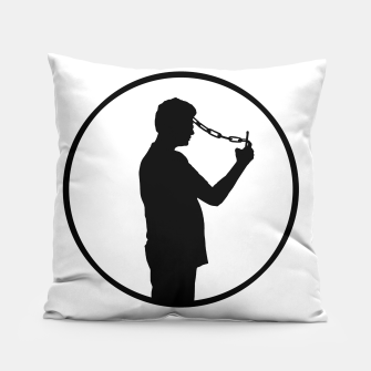 Thumbnail image of Mobile Phone Addiction Concept Illustration Pillow, Live Heroes