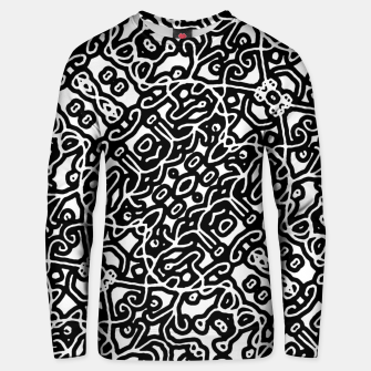 Miniaturka Ethnic Black and White Pattern Unisex sweater, Live Heroes