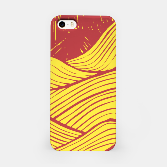 Miniaturka red sky waves iPhone Case, Live Heroes