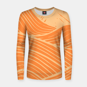 Thumbnail image of The orange waves Women sweater, Live Heroes