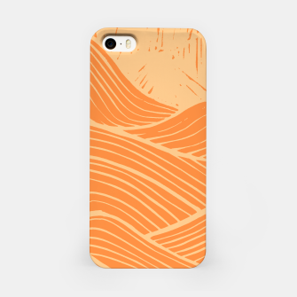 Miniatur The orange waves iPhone Case, Live Heroes