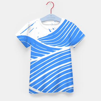 Thumbnail image of Blue waves Kid's t-shirt, Live Heroes