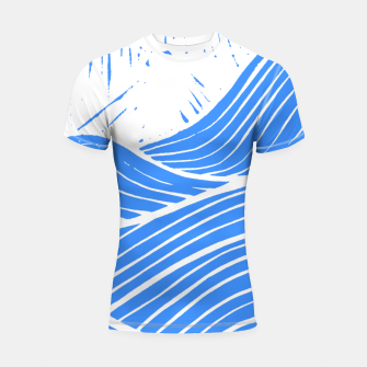 Thumbnail image of Blue waves Shortsleeve rashguard, Live Heroes