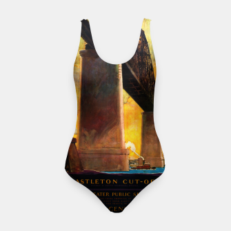 Thumbnail image of Castleton Cut-Off Alfred H. Smith Memorial Bridge New York Central Lines Swimsuit, Live Heroes