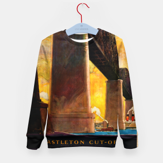 Thumbnail image of Castleton Cut-Off Alfred H. Smith Memorial Bridge New York Central Lines Kid's sweater, Live Heroes