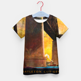Thumbnail image of Castleton Cut-Off Alfred H. Smith Memorial Bridge New York Central Lines Kid's t-shirt, Live Heroes