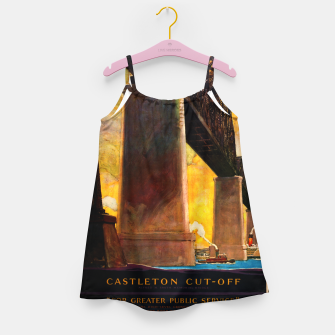 Thumbnail image of Castleton Cut-Off Alfred H. Smith Memorial Bridge New York Central Lines Girl's dress, Live Heroes