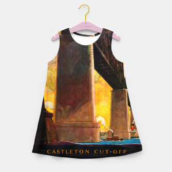Thumbnail image of Castleton Cut-Off Alfred H. Smith Memorial Bridge New York Central Lines Girl's summer dress, Live Heroes