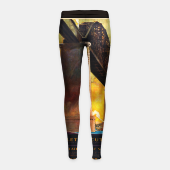 Thumbnail image of Castleton Cut-Off Alfred H. Smith Memorial Bridge New York Central Lines Girl's leggings, Live Heroes