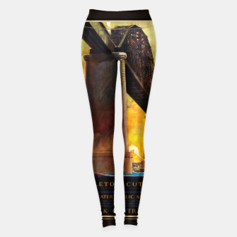 Thumbnail image of Castleton Cut-Off Alfred H. Smith Memorial Bridge New York Central Lines Leggings, Live Heroes
