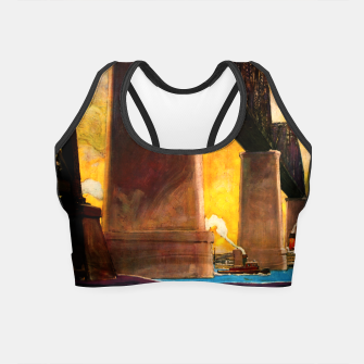 Thumbnail image of Castleton Cut-Off Alfred H. Smith Memorial Bridge New York Central Lines Crop Top, Live Heroes