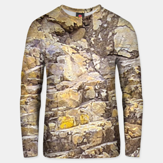 Thumbnail image of Rocky Texture Grunge Print Design Unisex sweater, Live Heroes