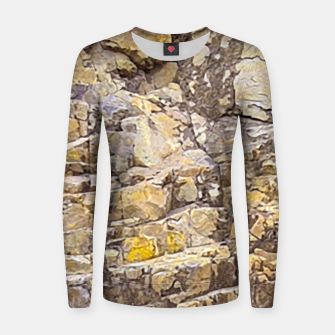 Thumbnail image of Rocky Texture Grunge Print Design Women sweater, Live Heroes