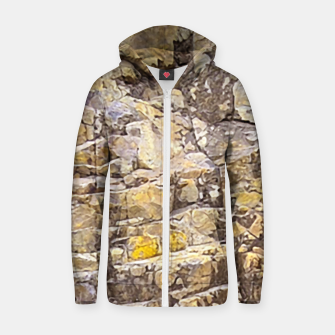 Thumbnail image of Rocky Texture Grunge Print Design Zip up hoodie, Live Heroes