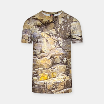 Thumbnail image of Rocky Texture Grunge Print Design T-shirt, Live Heroes