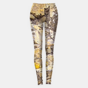 Thumbnail image of Rocky Texture Grunge Print Design Leggings, Live Heroes