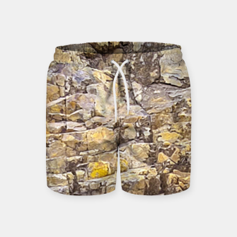 Thumbnail image of Rocky Texture Grunge Print Design Swim Shorts, Live Heroes