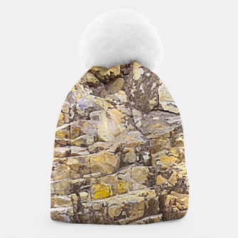 Thumbnail image of Rocky Texture Grunge Print Design Beanie, Live Heroes