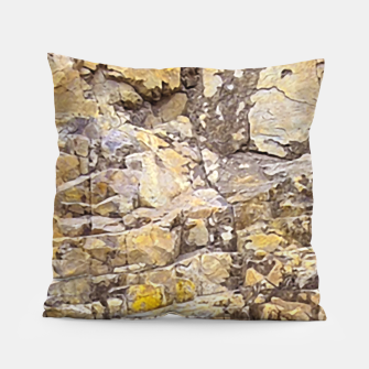 Thumbnail image of Rocky Texture Grunge Print Design Pillow, Live Heroes