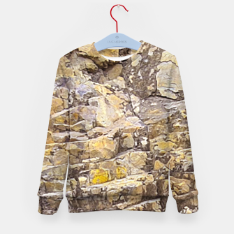 Thumbnail image of Rocky Texture Grunge Print Design Kid's sweater, Live Heroes