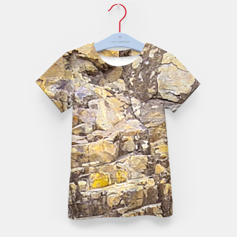 Thumbnail image of Rocky Texture Grunge Print Design Kid's t-shirt, Live Heroes