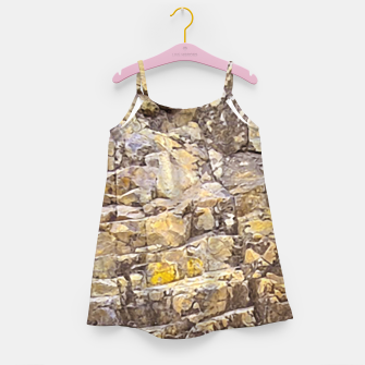 Thumbnail image of Rocky Texture Grunge Print Design Girl's dress, Live Heroes