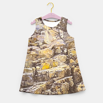 Thumbnail image of Rocky Texture Grunge Print Design Girl's summer dress, Live Heroes