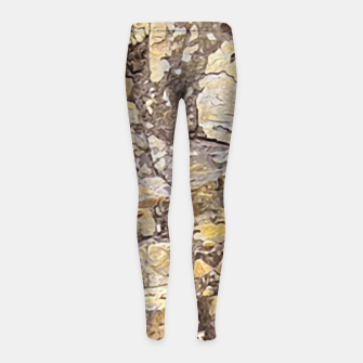 Thumbnail image of Rocky Texture Grunge Print Design Girl's leggings, Live Heroes