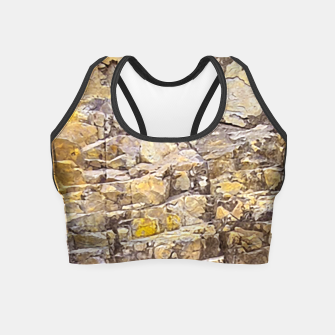 Thumbnail image of Rocky Texture Grunge Print Design Crop Top, Live Heroes