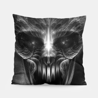 Thumbnail image of Fractal Gothic Skull Pillow, Live Heroes