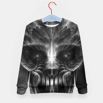 Thumbnail image of Fractal Gothic Skull Kid's sweater, Live Heroes