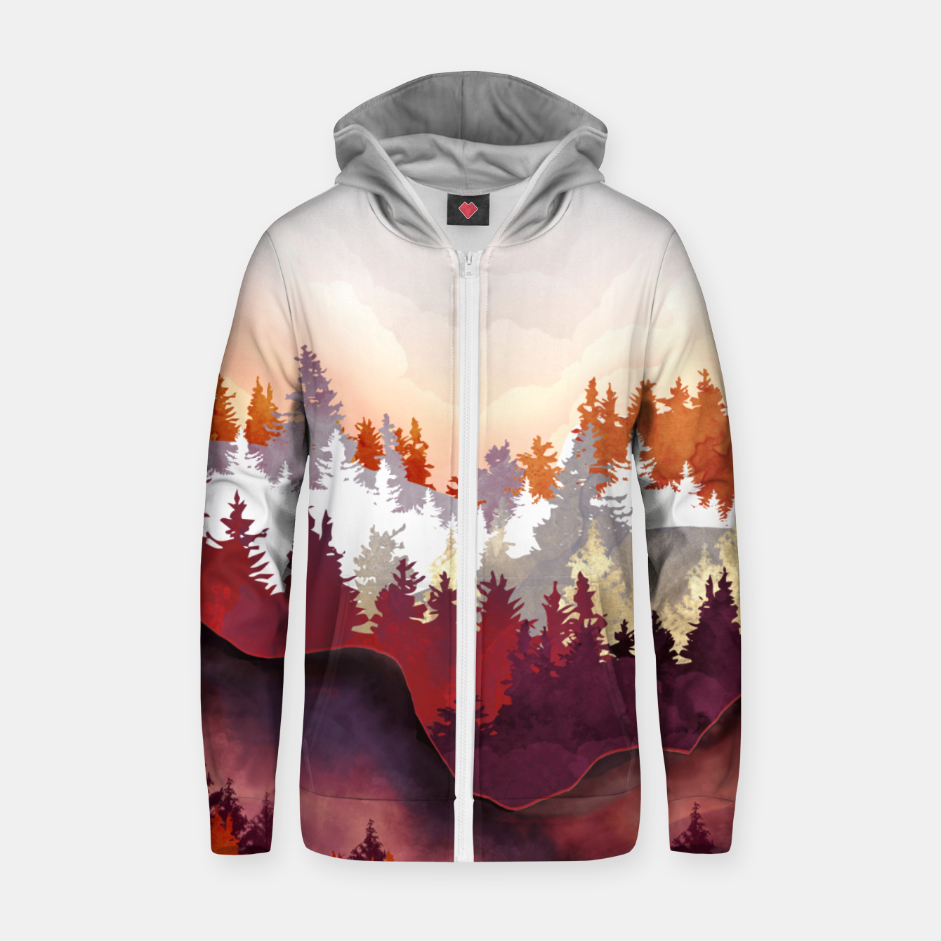 Image of Amber Forest Zip up hoodie - Live Heroes
