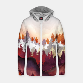 Thumbnail image of Amber Forest Zip up hoodie, Live Heroes