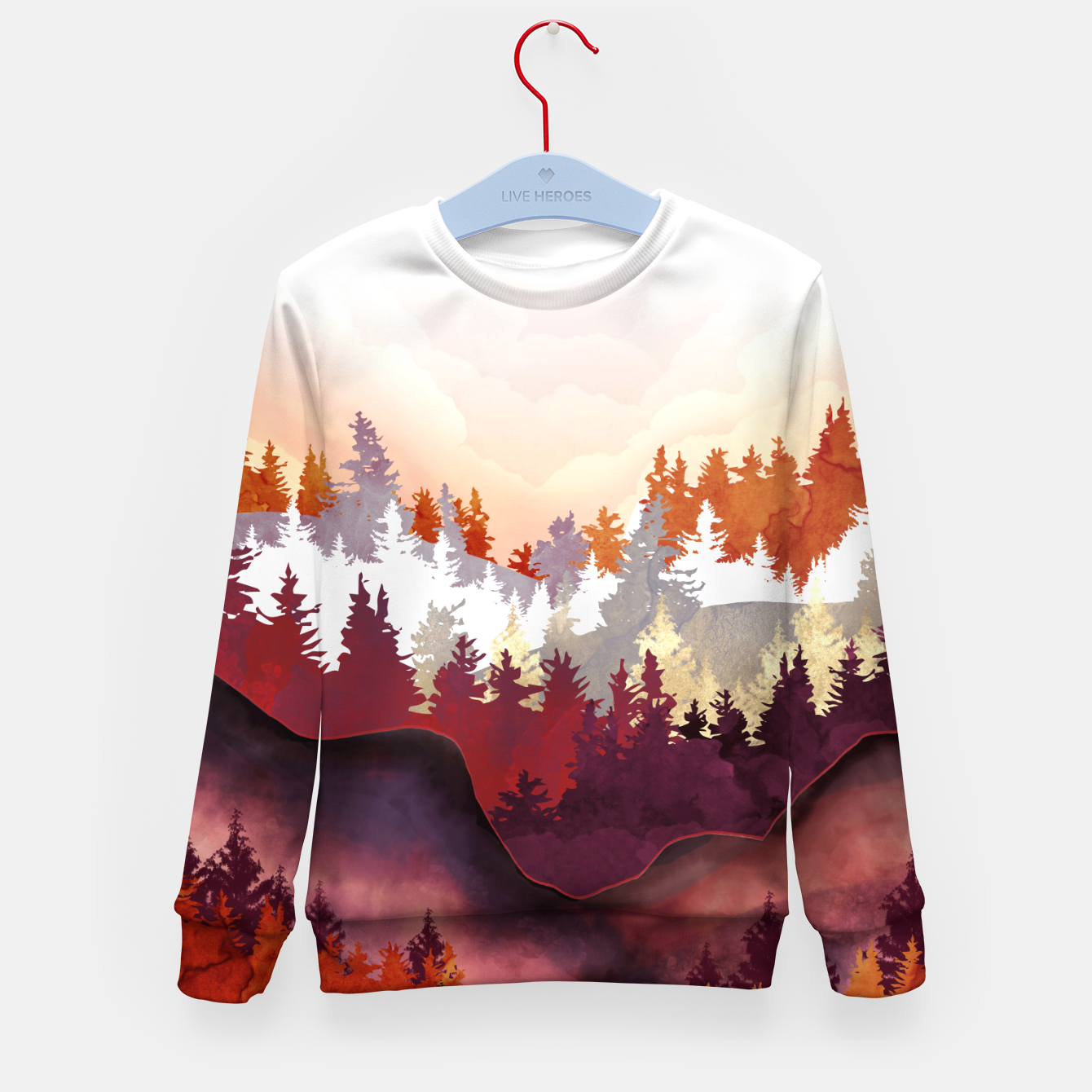 Image of Amber Forest Kid's sweater - Live Heroes