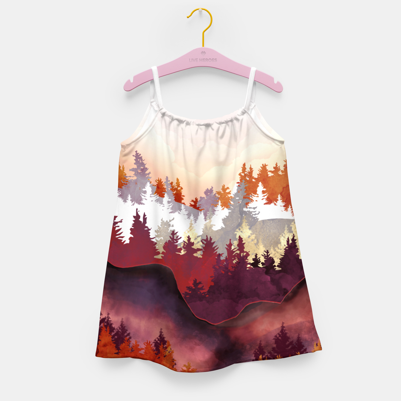 Image of Amber Forest Girl's dress - Live Heroes