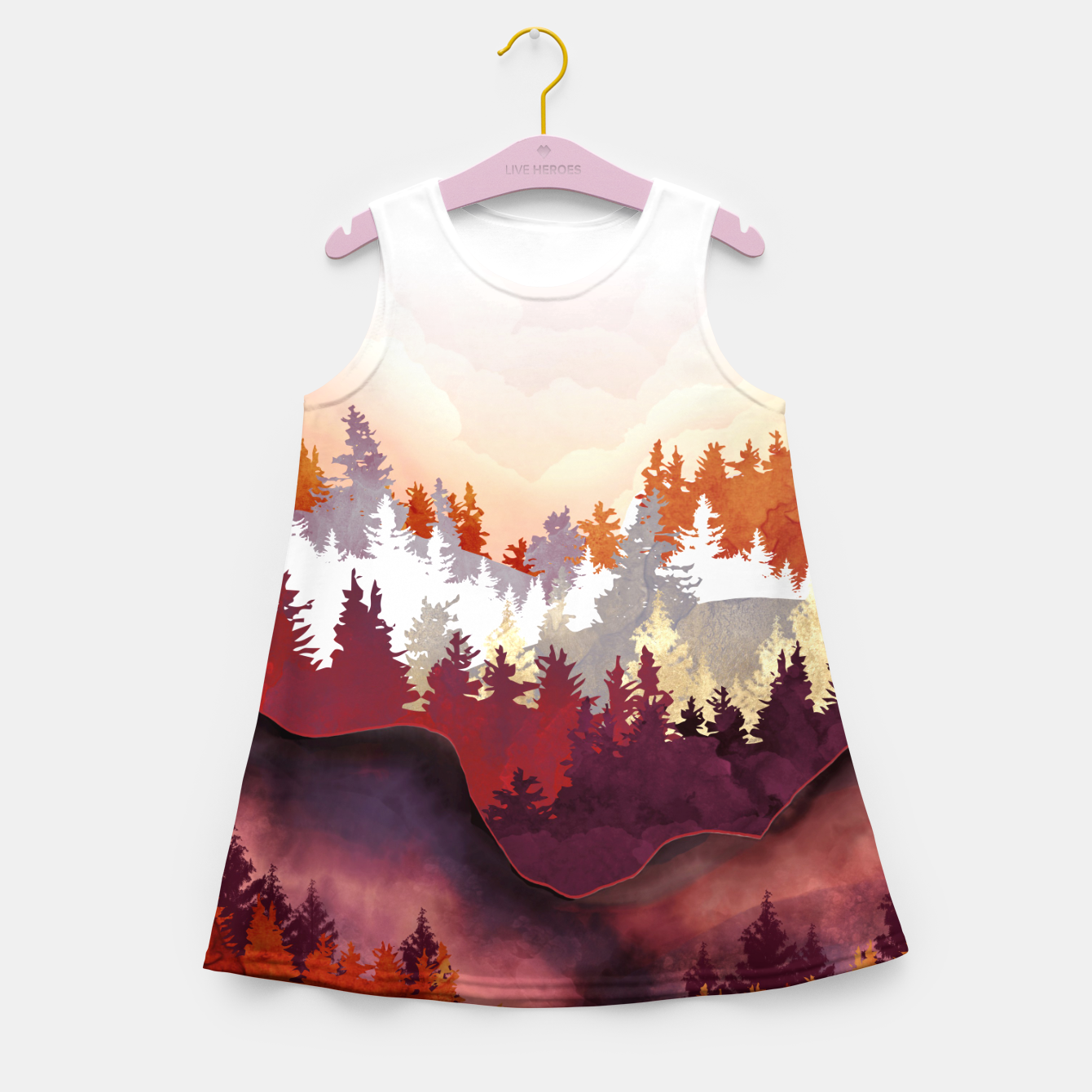 Image of Amber Forest Girl's summer dress - Live Heroes