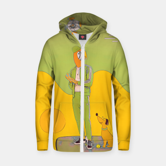 Thumbnail image of Waiting Zip up hoodie, Live Heroes
