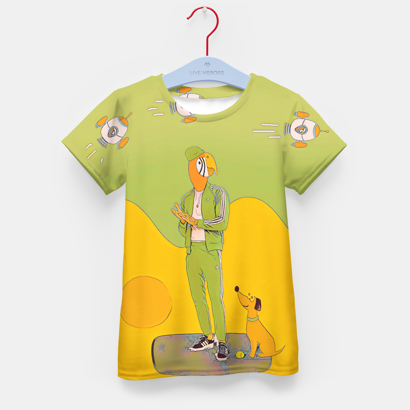 Image of Waiting Kid's t-shirt - Live Heroes
