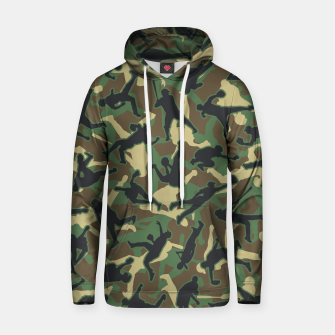 Thumbnail image of Baseball Player Camo Woodland Camouflage Pattern Hoodie, Live Heroes