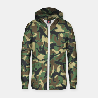 Thumbnail image of Baseball Player Camo Woodland Camouflage Pattern Zip up hoodie, Live Heroes