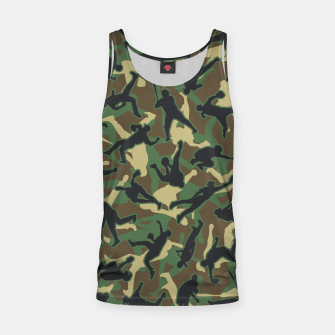 Thumbnail image of Baseball Player Camo Woodland Camouflage Pattern Tank Top, Live Heroes