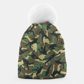 Thumbnail image of Baseball Player Camo Woodland Camouflage Pattern Beanie, Live Heroes