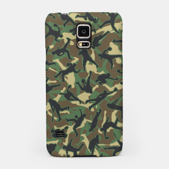 Thumbnail image of Baseball Player Camo Woodland Camouflage Pattern Samsung Case, Live Heroes