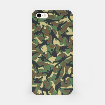 Thumbnail image of Baseball Player Camo Woodland Camouflage Pattern iPhone Case, Live Heroes