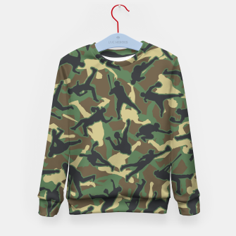 Thumbnail image of Baseball Player Camo Woodland Camouflage Pattern Kid's sweater, Live Heroes