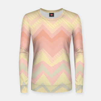 Thumbnail image of Deformed chevron pattern, geometric print in soft pastel colors Women sweater, Live Heroes