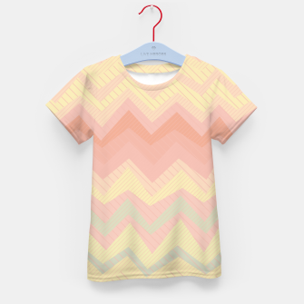 Thumbnail image of Deformed chevron pattern, geometric print in soft pastel colors Kid's t-shirt, Live Heroes