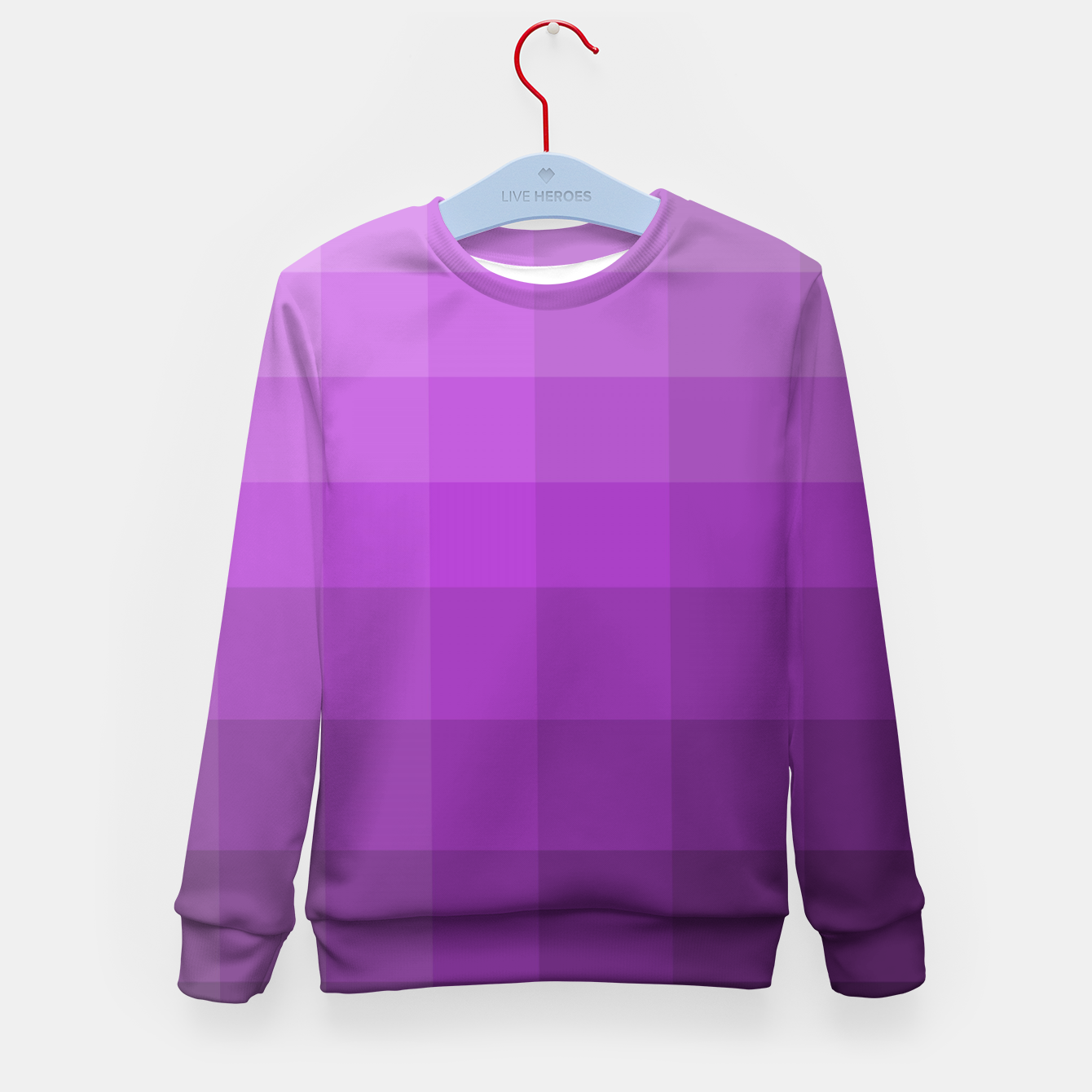 Image of zappwaits-purple Kid's sweater - Live Heroes