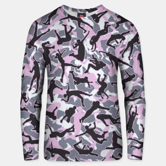 Miniatur Volleyball Player Camo Camouflage Pattern Pink Unisex sweater, Live Heroes