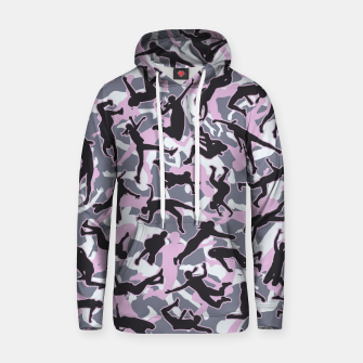 Miniatur Volleyball Player Camo Camouflage Pattern Pink Hoodie, Live Heroes